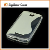 S line mobile phone back cover case for alcatel one touch OT-7041D