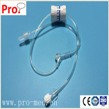 Disposable IV set Flow Regulator with Extension Tube