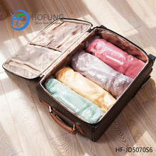 Plastic compressed 75% space clothing travel roll Vacum Bag