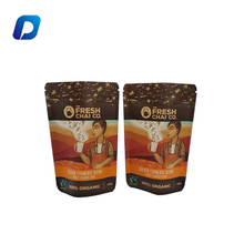 Customized logo printing zipper stand up brown kraft paper bags for food