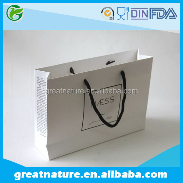 Branded Paper Bag With Cotton Rope Handle