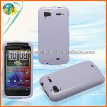 For HTC Sensation 4G silicone gel case solid white tpu cover