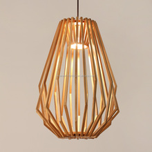 high quality wood pendant lamp with E27 led lamp