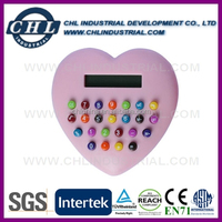 Heart shape solar calculator for gift