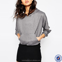 women wear wholesale china pouch pocket cut out sleeve plain pullover hoodies for women