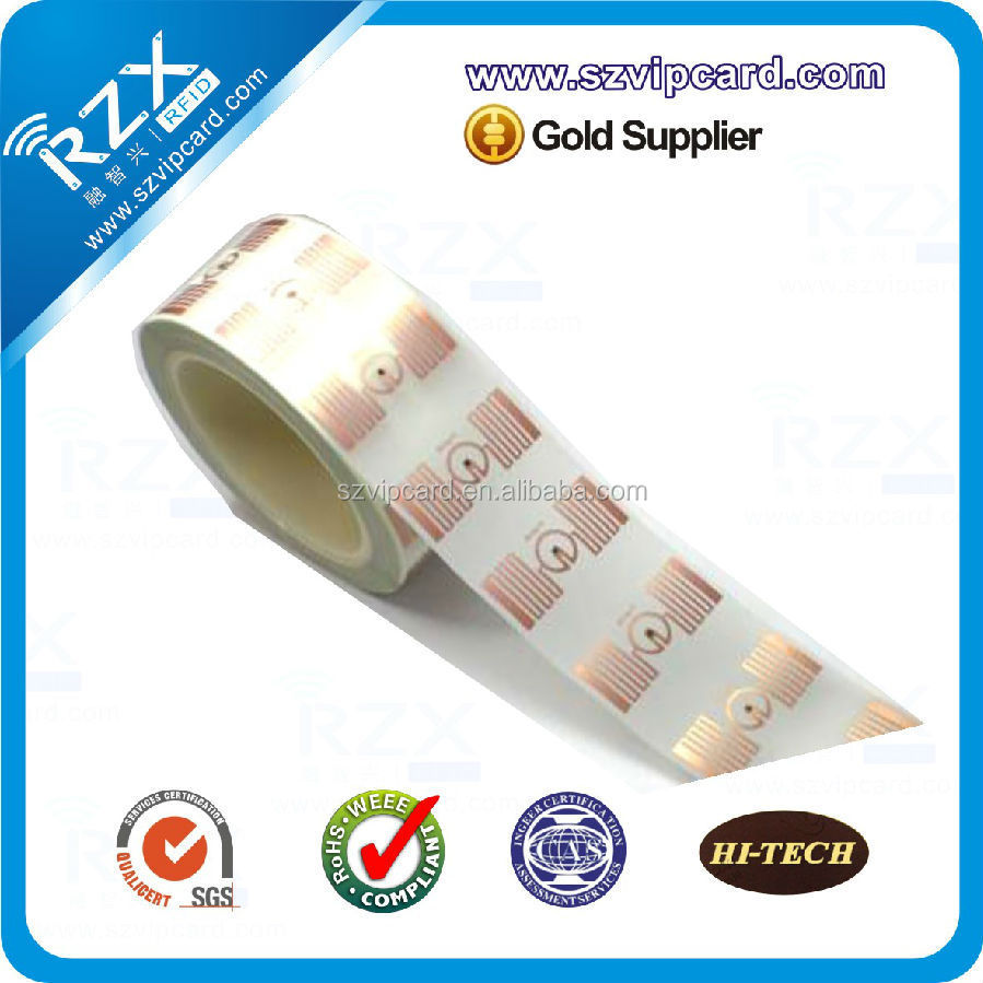 UHF rfid label/ wet inlay/ rfid tag with Alien 9640/9662