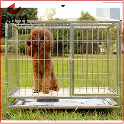 Wholesale Outdoor PVC Coated Chain Link Dog Kennel/Folding Metal Dog Fence