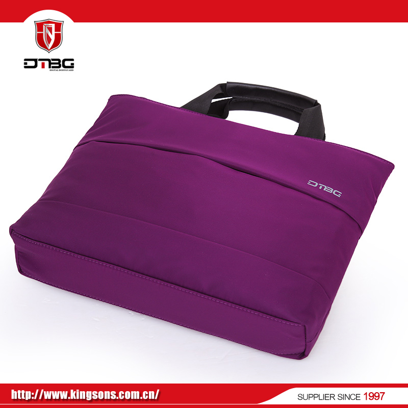 Wholesale purple fashion style laptop bag with rain cover