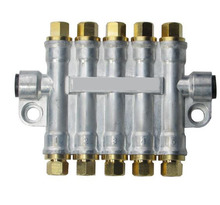 Detective volumetric Grease/Oil distributor/separator valve/divider 5 outlets for centralized lubrication system/RH3500