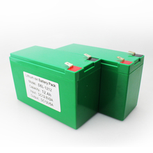 Mini 12v rechargeable battery 12V 12AH 18650 lithium battery pack with battery case BMS
