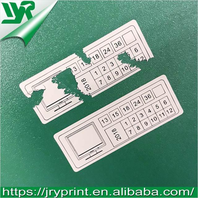 JRY custom paper screw warranty seal sticker