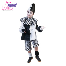 Halloween carnival black and white children carnival checkered clown costume