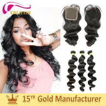 XBL hair manufacturer full cuticles tangle fee indian wedding hair accessories