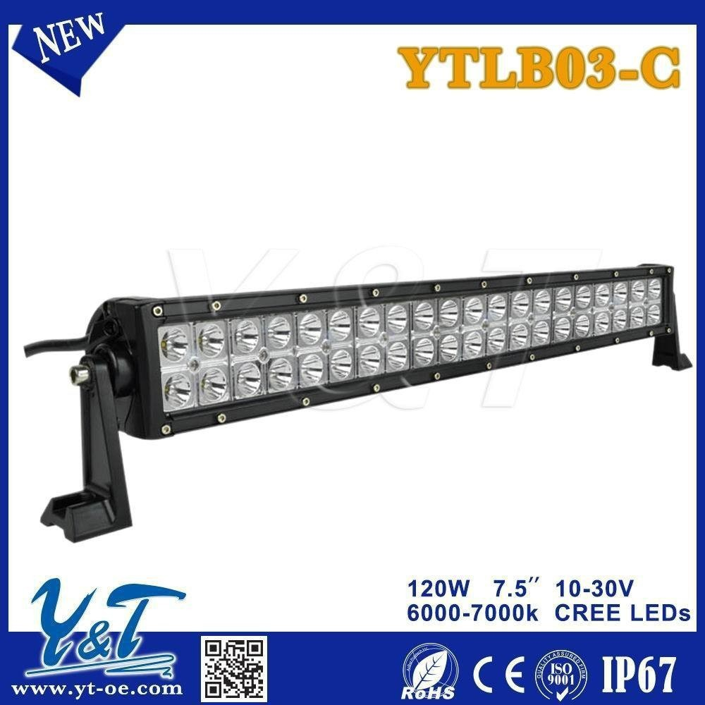 Y&T New 21.5inch 3D projector reflector lens 120w led light bar for OFFROAD 4X4 ATVs SUV UTV