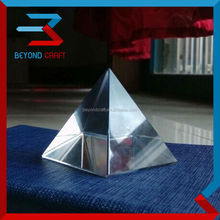 Clear blank pyramid paperweight,crystal engraved pyramid paperweight for islamic wedding favors