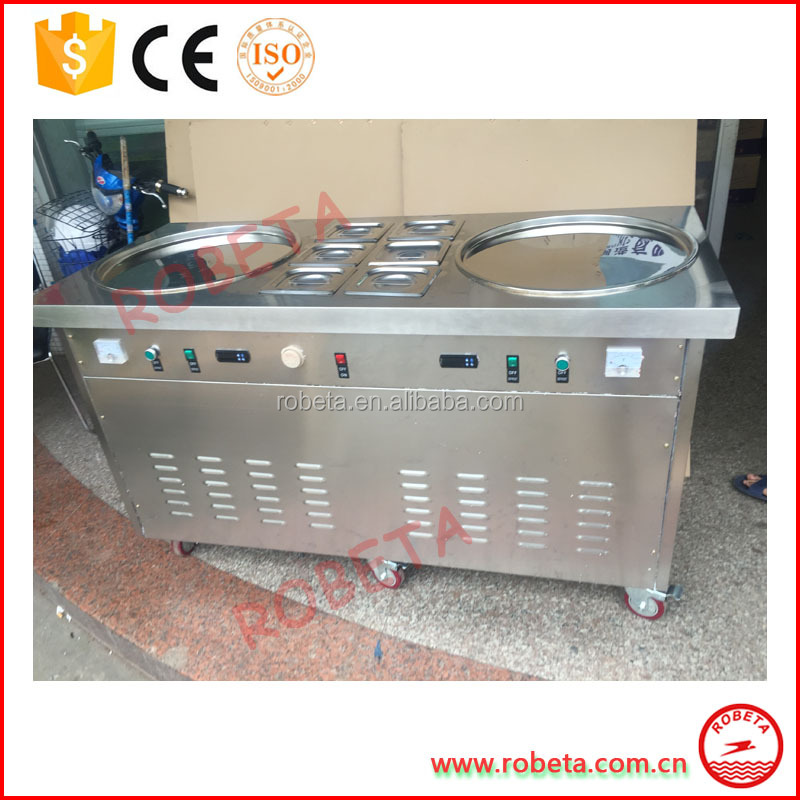 CE Approved Street ice cream corn puffing machine roll ice cream machine ice cream vending machine
