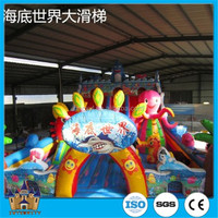 Hot sale!!!Outdoor interesting jumping inflatable castle children amusement park games