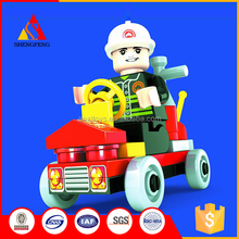 Childrens educational toys firefighting 3d brains building blocks
