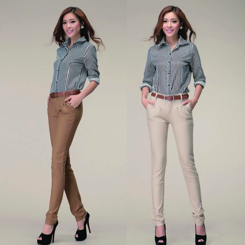 WA7037 New design casual trousers straight pants for women