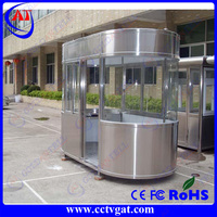 Stainless steel outdoor security Guard house/ prefabricated portable booth/kiosk booth