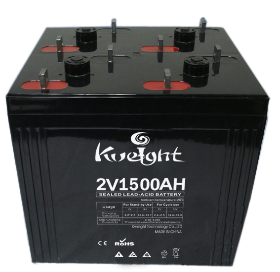 24V Deep cycle battery AGM battery 1500Ah 2 volt lead acid battery