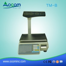 New heavy duty serial ethernet electronic weighing scale label printing for supermarket and shops