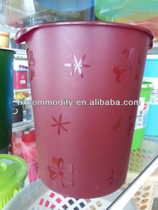 Household Office Trash Can Waste Basket Round Bucket Garbage
