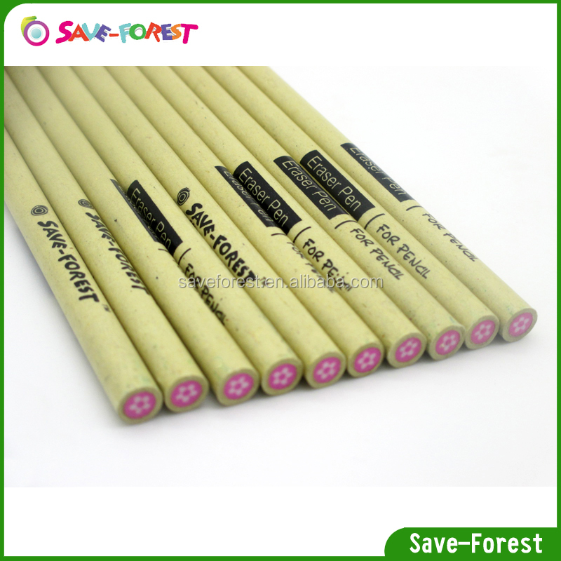 China eraser pen set packing in triangle tube box