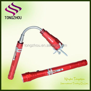 wholesale pickup 3 led telescopic Emergency Flashlight,Magnet led torch, work flashlight