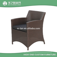 Cheap heavy duty wicker PE rattan woven outdoor garden dining chair