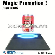 Most Attractive ! Magnetic Floating display stand for plastic bottle ,bottle koozie with bottle opener