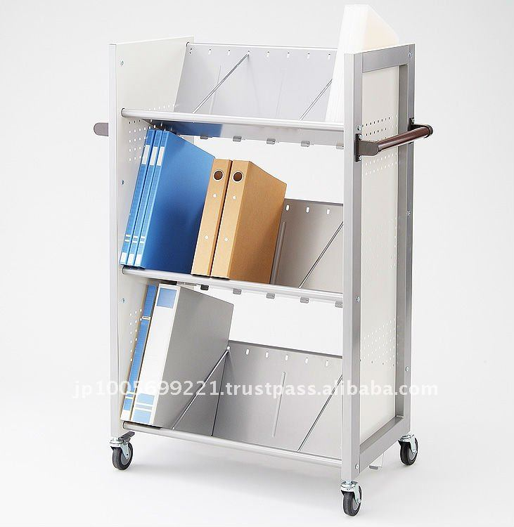 Japanese Mini Office Furniture Distributor High-Quality Office Furniture 3-Shelf Book Shelf Cart