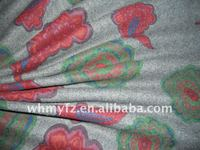 melton tropical water based printing fabric for ladies clothes