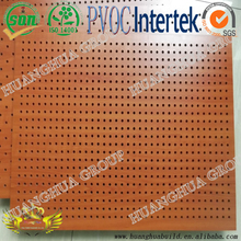 best sale wooden grain in door decoration perforated acoustic gypsum board/ ceiling tiles with competitive price