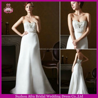SD1652 strapless organza lace top cheap new model 2014 wedding dress