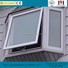 Thermal Break Aluminum Frame pvc jalousie window manufacturer with double glass