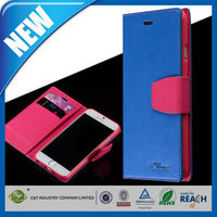 C&T 2015 The Best Hot Sale new leather folding wallet case for iphone 6