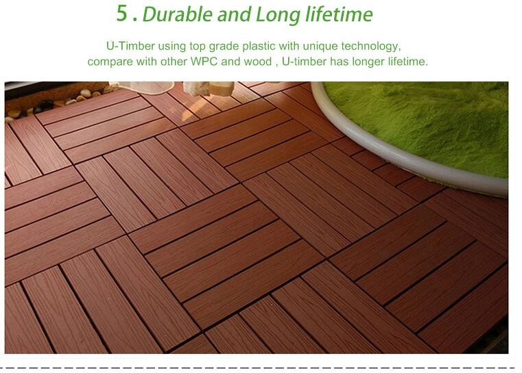 DIY wpc decking tiles with deep embossing