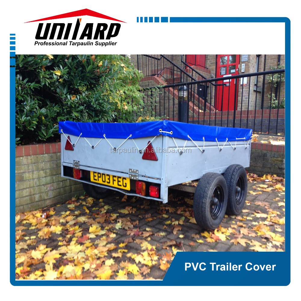 blue PVC trailer covers PVC tarpaulin truck bed cover