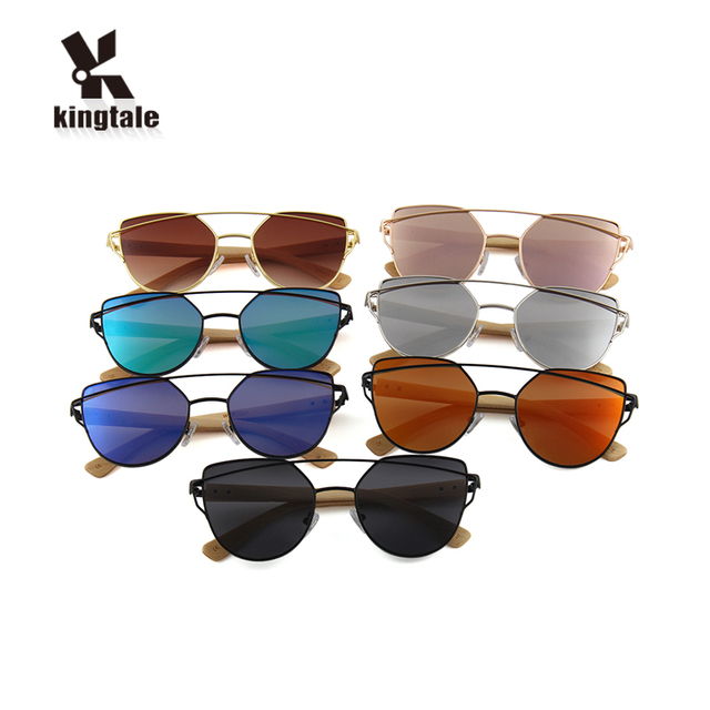 Kingtale One Pieces nose pad metal and bamboo cheap polarized fashion sunglasses for photography
