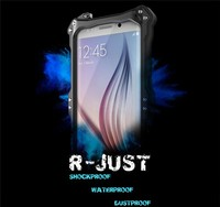 R-Just Corning Gorilla Glass Waterproof Shockproof Dirtproof Snowproof Metal Aluminum Protector Case for SAMSUNG GALAXY S6 EDGE