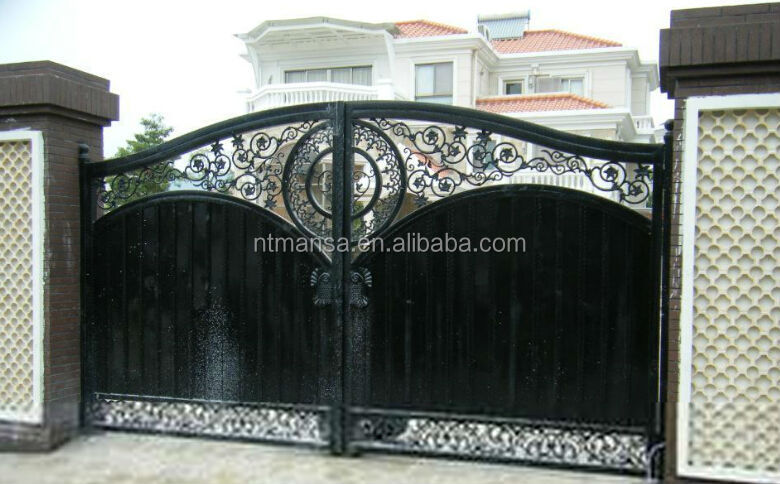 Wrought iron gate design for house buy iron gate designs for Home gate design