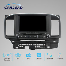 high quality 2 din Mitsubishi Lancer 2015 Car DVD with GPS Navigation with iPod TV BT 6 CDC