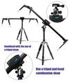 New released heavy duty camera video rail dolly 100cm slider with pan head
