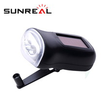 ABS Dynamo Torch Light Lithium Battery Rechargeable Led Charge Mini Hand Crank Powerful Solar Flashlight