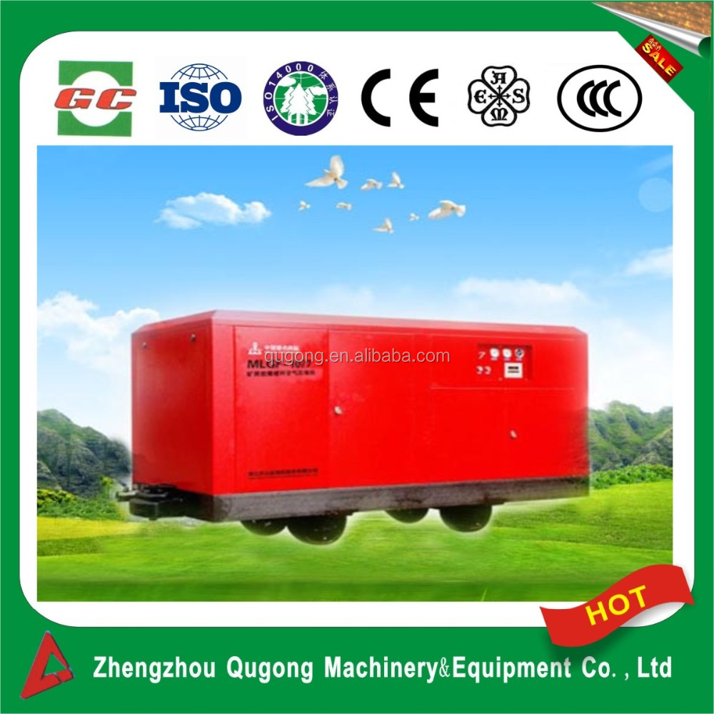 Type of screw no- detonating air-boost compressor especially for mining