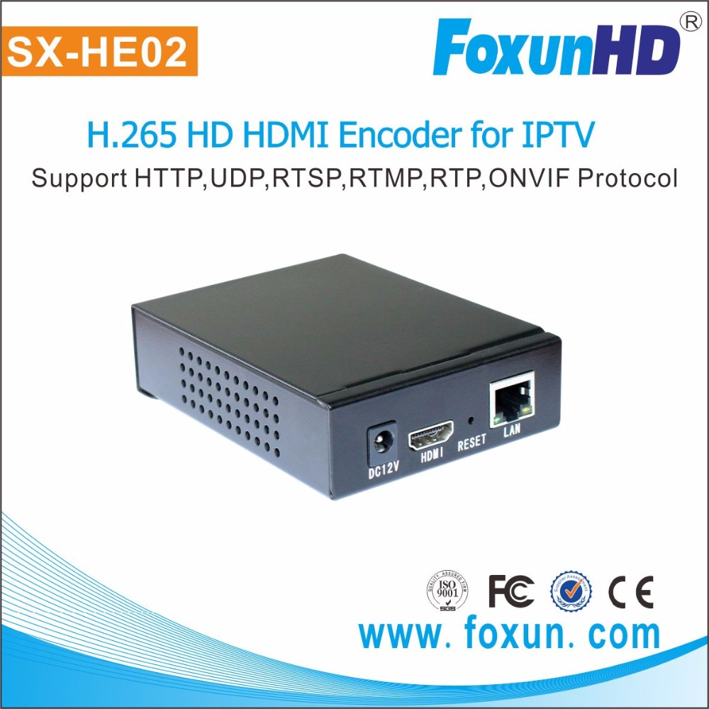 Foxun new model SX-HE02 home audio/video extender HDMI port H.265 encoder live streaming