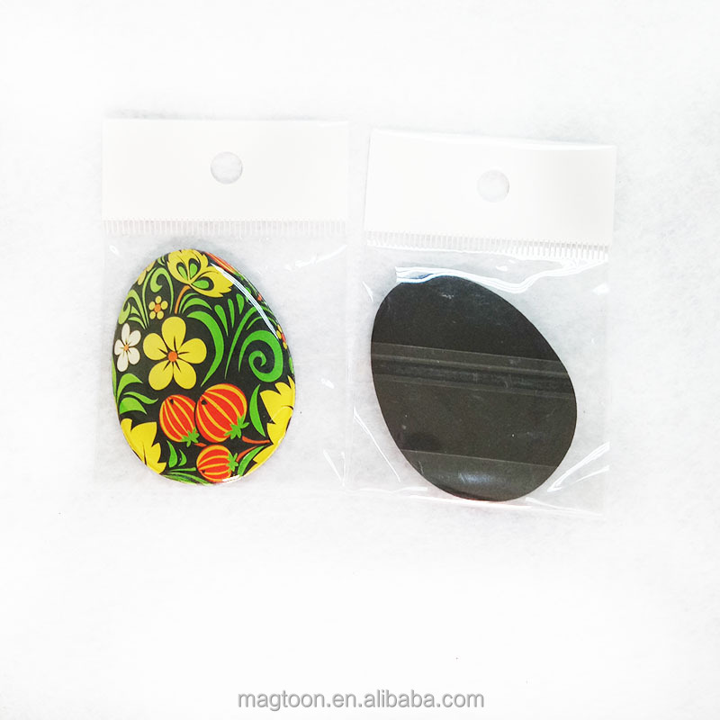 custom oval shaped epoxy fridge magnet toy for souvenir&promotion