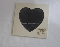 hot selling and cheap price heart shape carved wooden frame blackboard writing board with chalk