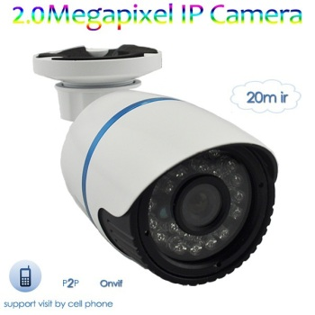 low cost! popular 2.0Megapixel IR Waterproof IP Camera with high quality